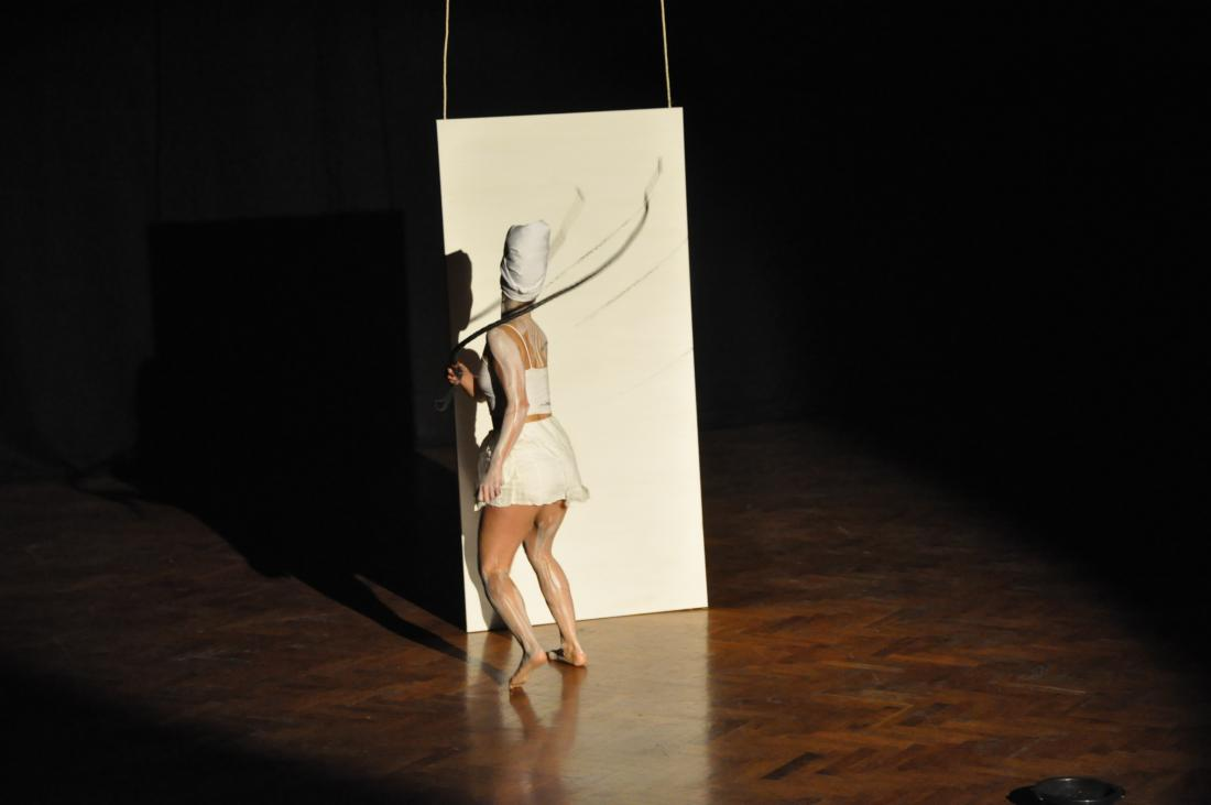 Fig. 1. Jeannette Ehlers, Whip It Good, 2013. Performance. Photograph: Wagner Carvalho. Courtesy of the artist and Alanna Lockward, Art Labour Archives.